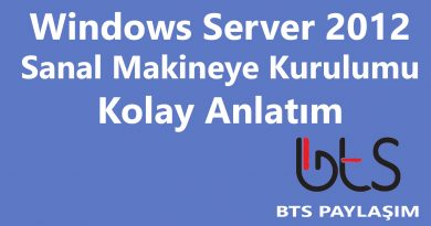 Windows Server 2012 – Sanal Makineye Kurulumu