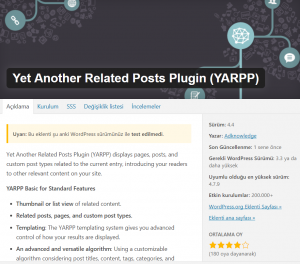 Yet Another Related Posts Plugin En İyi WordPress Eklentileri